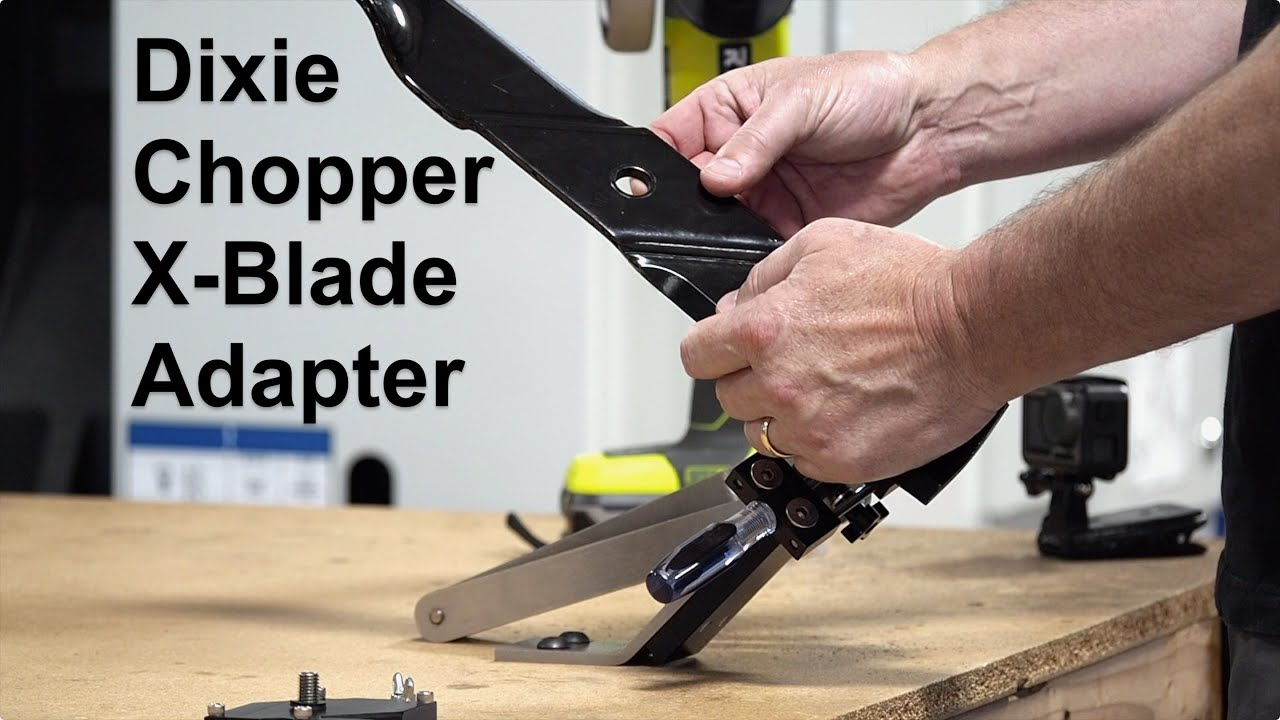 Dixie Chopper X-Blade Adapter for the All American Mower Blade Sharpener