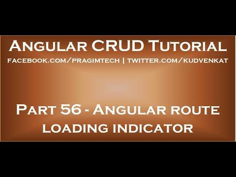 Angular route loading indicator