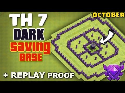 Clash Of Clans - Town Hall 7 (TH7) Dark Elixir Saving Base With Replay Proof ♦ October 2016