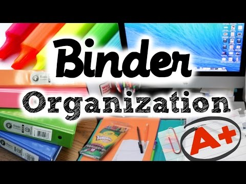 BEST Binder Organization