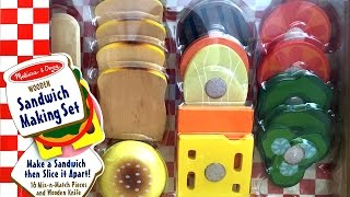 Sandwich Making Set Melissa & Doug Wooden Playsets Make A Sandwich Diy Play Food Toy Videos