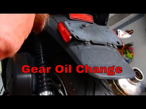 2016 Piaggio MP3 500 Gear Oil Change