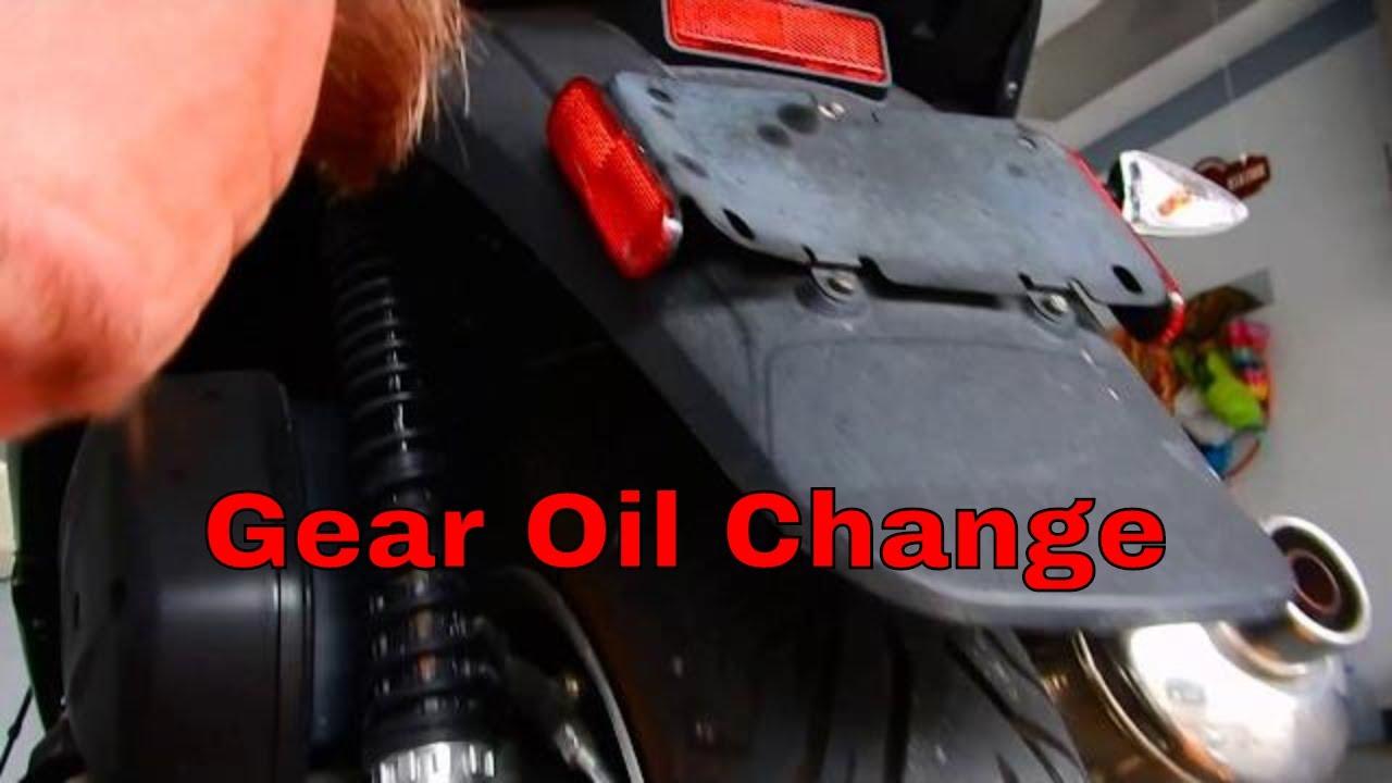 2016 piaggio mp3 500 gear oil change - youtube