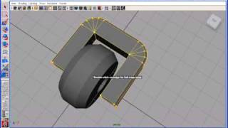 How to create a wheel in Maya with Polygon Modeling2