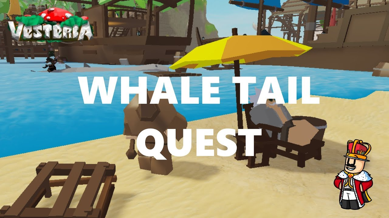 How To Do Whale Tale Quest Vesteria Youtube