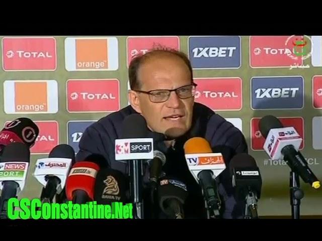 CS Constantine 2 - 3 ES Tunis : Déclarations de Denis Lavagne