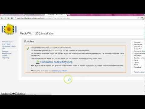 Tutorial For Mediawiki Free Web Hosting Part_2
