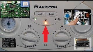 Как сделать. Ремонт газового котла ARISTON. Ошибка дымохода. Repair of gas boiler ARISTON.
