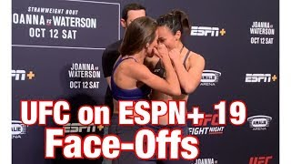 UFC On ESPN 19 Face Offs  Joanna And Waterson Butt Heads  FULL