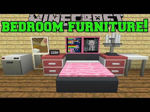 Minecraft: BEDROOM FURNITURE!!! (MIRRORS, DIGITAL CLOCKS, PAINTINGS, & MODERN BEDS!) Mod Showcase thumbnail