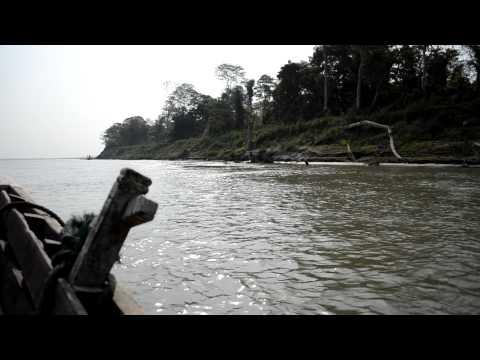 Boating on Brahmaputra river in Kaziranga National Park