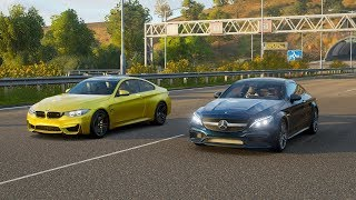 Forza Horizon 4 Drag race: BMW M4 vs Mercedes-AMG C63 S Coupé (2016)