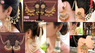 9 Royal Bridal!!.. DiY Bahubali Earrings | Latest Party Wear Jewelry Design