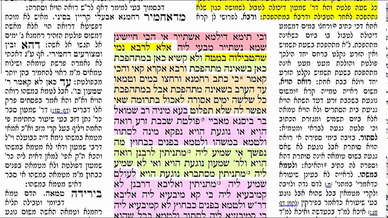 דף יומי מסכת נידה דף מב Daf yomi Niddah daf 42