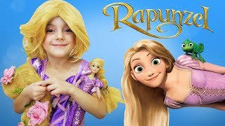 Dollhouse room and makeup transformation Rapunzel