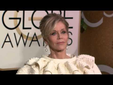 Jane Fonda Golden Globe Awards Fashion Arrivals (2016)