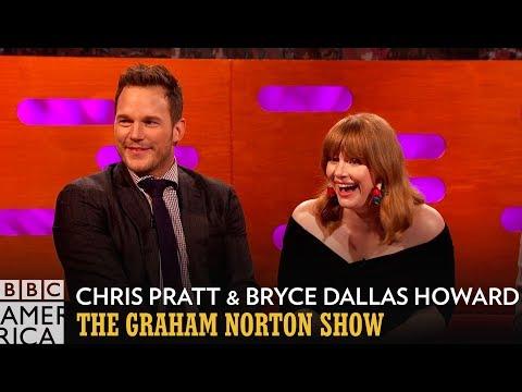 Chris Pratt & Bryce Dallas Howard Swam In Urine During Jurassic World 2  The Graham Norton