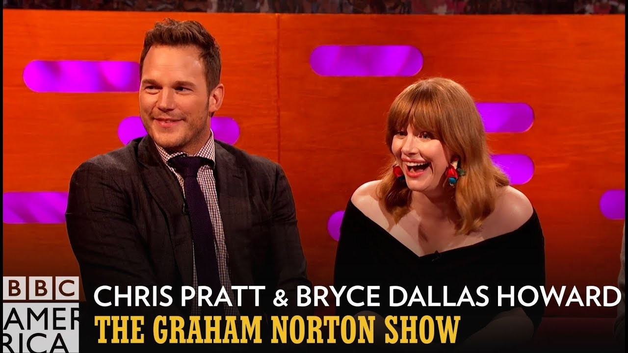 Chris Pratt & Bryce Dallas Howard Swam In Urine During Jurassic World 2 - The Graham Norton Show
