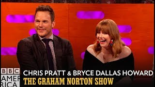 Chris Pratt & Bryce Dallas Howard Swam In Urine During Jurassic World 2 - The Graham Norton Show