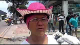 #SoyInformador: Habitantes de la calle 12 protestaron cansados por el derramamiento de aguas negras.