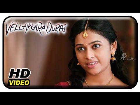 Vellaikaara Durai Movie Scenes | Sri Divya steps for a Mass Song | Vikram Prabhu | Soori