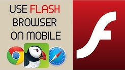 How to Use ADOBE FLASH PLAYER on mobile - iOS & Android