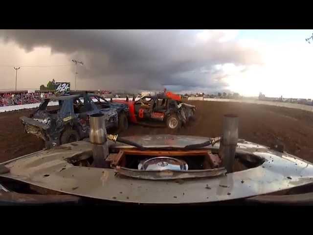 Dexter Mo demolition derby heat race 2015