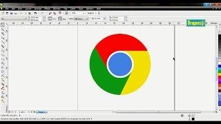 Tutorial CorelDraw - Cara Membuat Logo Google Chrome