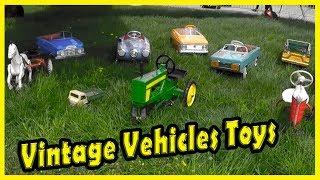 Vintage Vehicle Toys For Kids. Retro Vehicles for Kids. Vintage Toys for Kids. Old Toys.