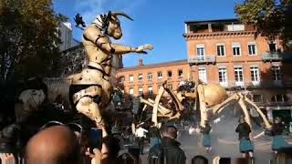 Giant Spider Ariane And Minotaur Asterion Roam The Streets Of Toulouse