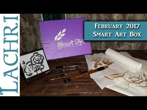 February 2017 Smart Art Box - Chinese Brush Painting - Lachri