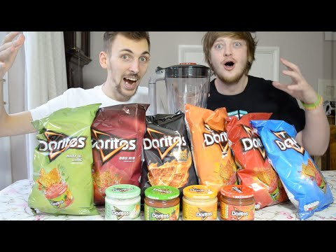 Eating Blended Doritos Tortilla Chips & Dips | WheresMyChallenge