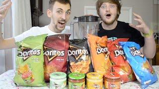 Eating Blended Doritos Tortilla Chips & Dips | WheresMyChallenge