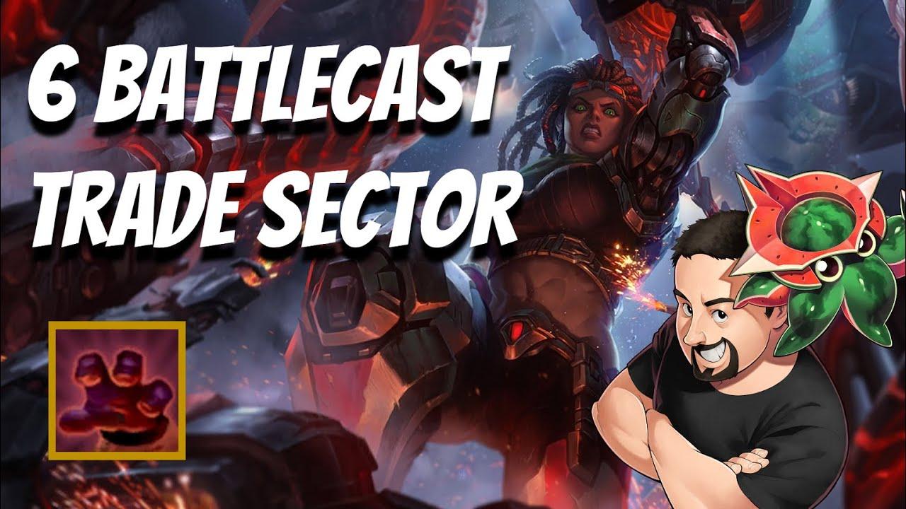 6 Battlecast Trade Sector vs a Coward | TFT Galaxies | Teamfight Tactics
