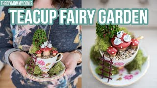 THRIFTED DIY TEACUP FAIRY GARDEN | $5 Goodwill Challenge