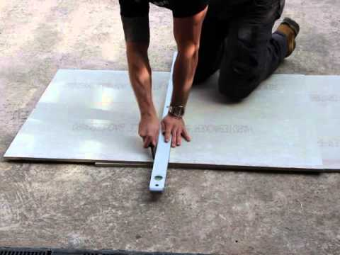 how to cut hardiebacker 12mm cement board youtube. Black Bedroom Furniture Sets. Home Design Ideas