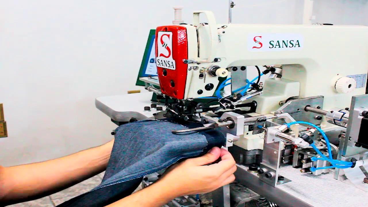 Máquina de coser para hacer el ruedo en pantalones - YouTube