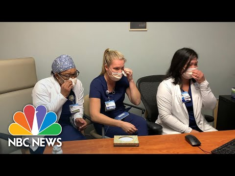 NFL Commissioner Roger Goodell Surprises Health Care Workers With Super Bowl Tickets | NBC News NOW
