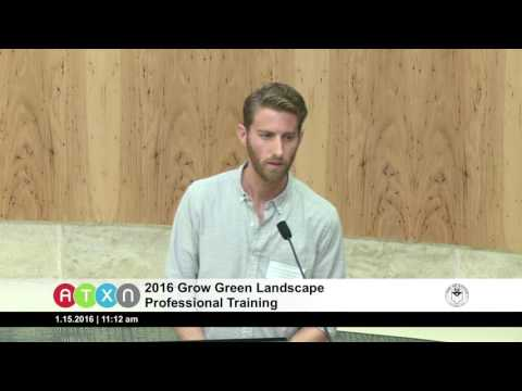 2016 Grow Green Landscape Professional Training 1/15/16