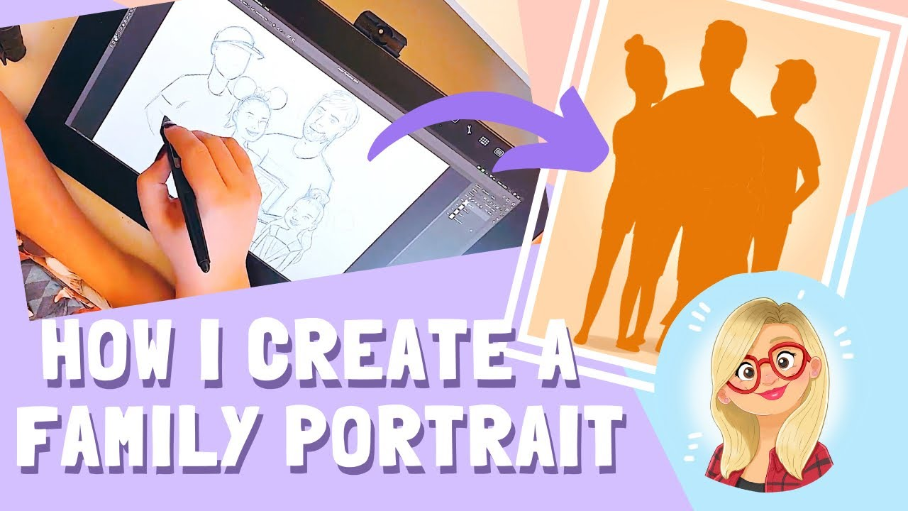 HOW I CREATE FAMILY PORTRAITS! | From Initial Email to Final Printed Portrait!