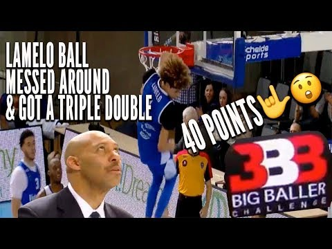 LaMelo Ball DUNKING TOO EASY in Lithuania Puts up a 40 POINT TRIPLE DOUBLE