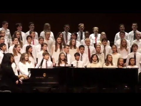 "Pilgrim Park Middle School Choir sing ""Count on Me"" by Bruno Mars"