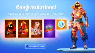 The New LAVA LEGENDS PACK in Fortnite..