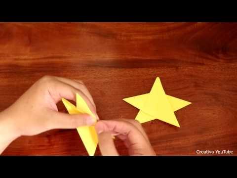 Cara membuat origami bintang untuk anak