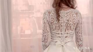 Свадебное платье А силуэт от VESILNA™ модель 3030