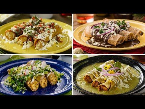 Tacos dorados mexicanos