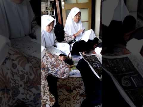 Proses nyanting kelas batik dulit gresik. Mts Nurul islam Pongangan gresik