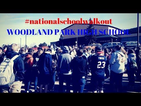 ???? #nationalschoolwalkout ~Woodland Park High School????