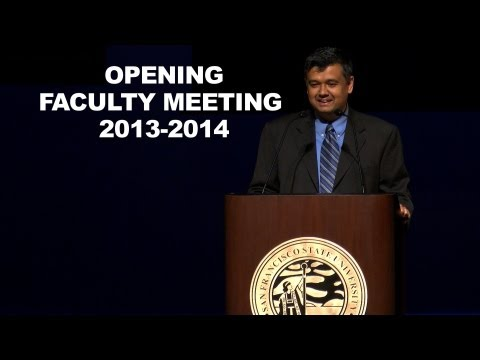 Opening Faculty Meeting 2013 - 2014