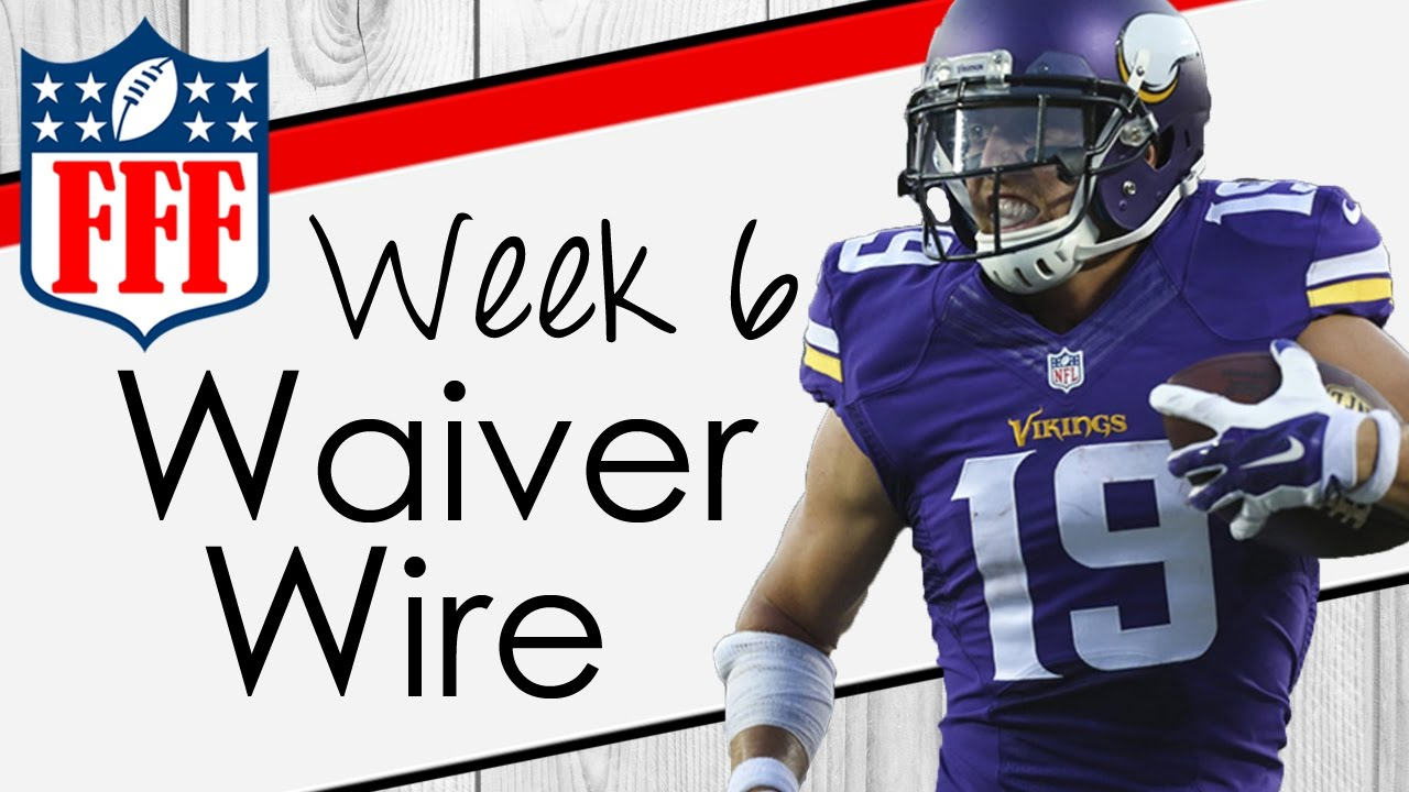 Week 6 Waiver Wire Pickups - 2016 Fantasy Football - YouTube
